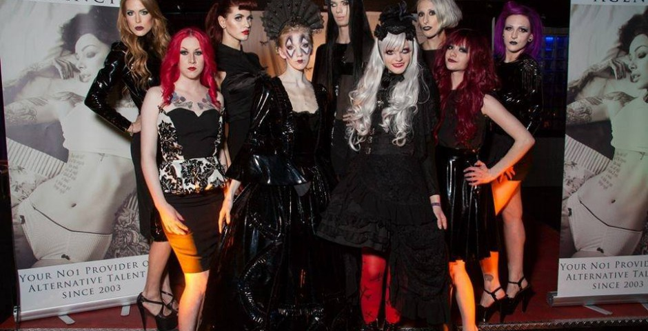 Pomp-A-dour clothing at Nocturnal Halloeewn ball
