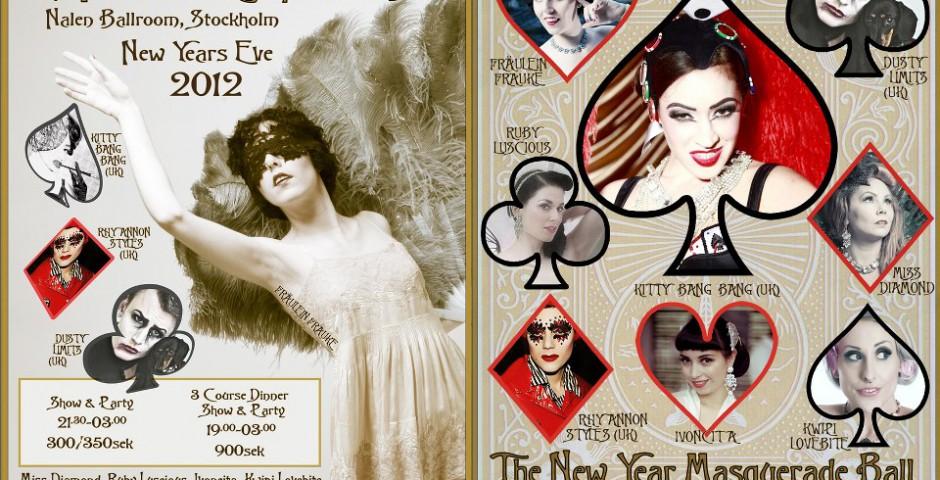 Poster, Fröken Frauke Presenterar - Burlesqueklubb